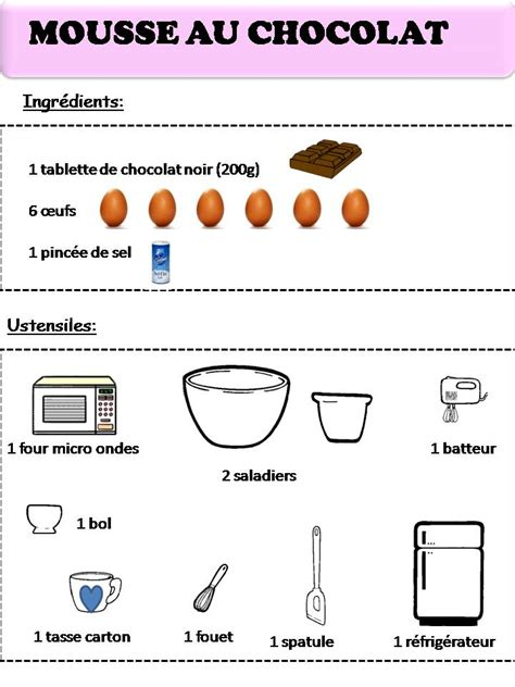 recette mousse au chocolat moi recette