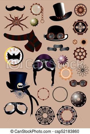 steampunk style elements steampunk elements  hat