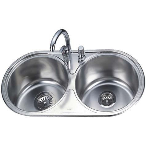 Double Bowl Round Kitchen Sink