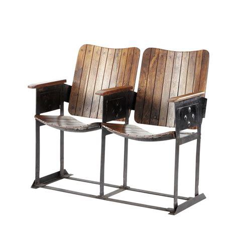 chaise bebe banquette indus 2 places en manguier effet vieilli