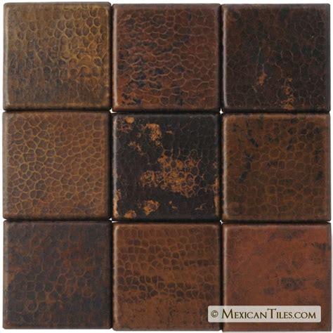 hammered copper tile backsplash this would look so