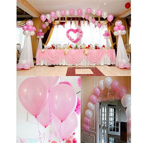 große luftballons kaufen nuolux luftballons wei 223 e und leicht rosa luftballons luftballons hochzeit 50 st 252 ck