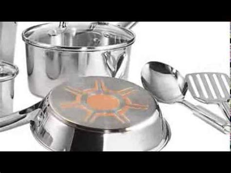 fal csc ultimate stainless steel copper bottom multi layer base  piece cookware set