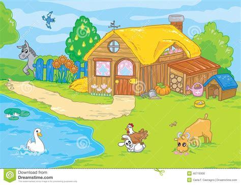 cute cartoon old farm stock illustration image 40719300