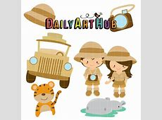 Safari Adventures Clip Art Set – Daily Art Hub – Free Clip