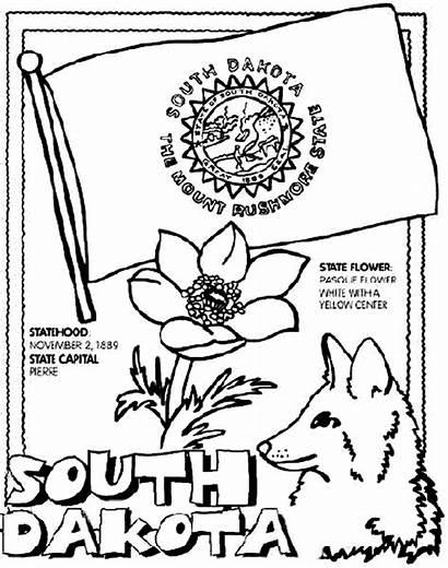 Coloring Dakota South Pages State Crayola Carolina