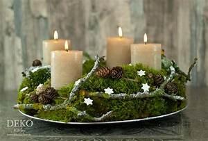 Adventskränze Deko Ideen : diy adventskranz aus naturmaterial mit moos zweigen ~ Haus.voiturepedia.club Haus und Dekorationen