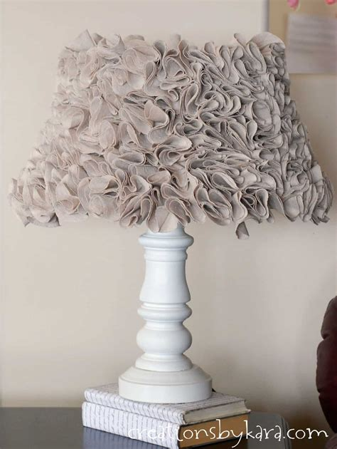 ruffled lamp  annie sloan chalk paint