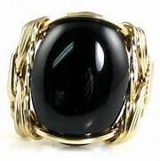 Onyx Gemstone Ring 14K...