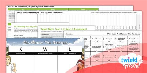 * New * Twinkl Move Pe  Y4 Dance Romans  Assessment Pack
