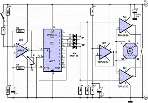 Stepper Motor Controller Circuit Diagram Electrical