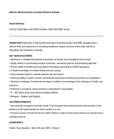 administrative assistant resume   word  psd