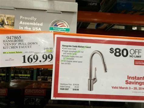 Hansgrohe Cento Pull-Down Kitchen Faucet – CostcoChaser