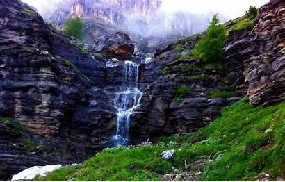 Waterfall River Nature Mountain Landscape Desktop Mist
