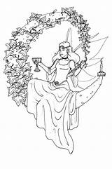 Coloring Wiccan Pages Adult Printable Adults Pagan Yule Colouring Witch Line Fairy Books Fairies Colour Fantasy Sheets Drawings Wicca Fae sketch template