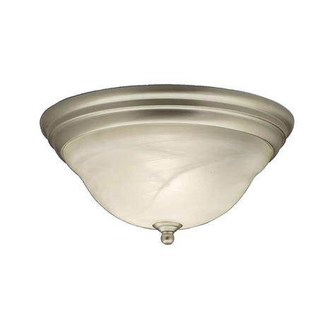 brushed nickel flush mount ceiling light shop kichler lighting telford 14 in w brushed nickel