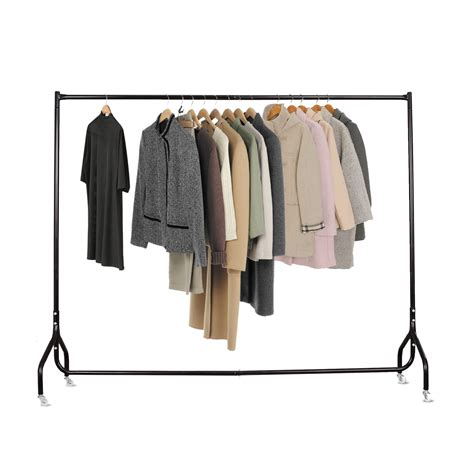 metal clothing racks clothes rack metal garment display rolling home portable rail hanger dryer stand ebay