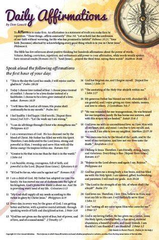 daily affirmations poster print  don gossett