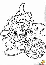 Coloring Yarn Cat Pages Kitten Playing Ball Kitty Clipart Electronic Colorings Amazing Drums Getcolorings Getdrawings Printable Description Print Books Template sketch template