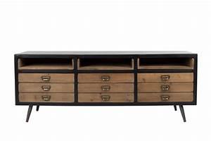 Sideboard Retro Look : sideboard lowboard sol von dutchbone vintage style ~ Markanthonyermac.com Haus und Dekorationen