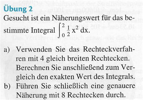 numerische integration rechteckverfahren wo muessen die