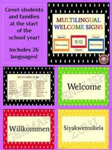 Multilingual Welcome Posters For Classroom Decor: Polka ...