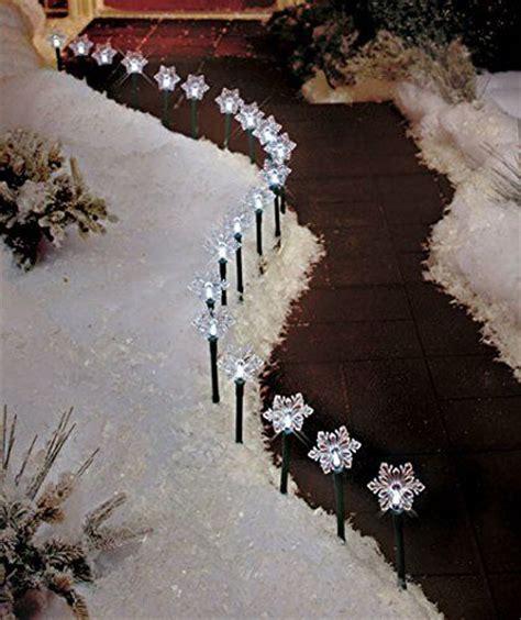 christmas solar walkway lights solar lighted snowflake stake pathway lights christmas