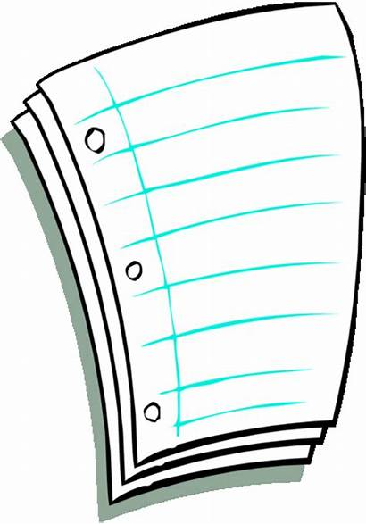 Paper Notebook Clipart Clip Torn Cliparts Clipartmag