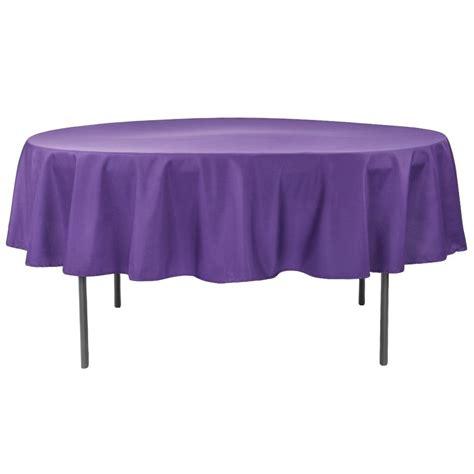 "Economy Polyester Tablecloth 90"" Round Purple CV Linens"
