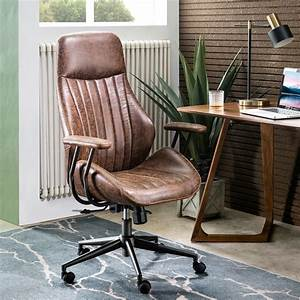 Ovios, Ergonomic, Office, Chair, Modern, Computer, Desk, Chair, High, Back, Suede, Fabric, Desk, Chair, With