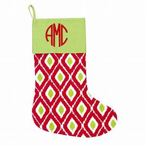 ikat christmas stocking monogrammed christmas stockings With single letter monogram christmas stockings