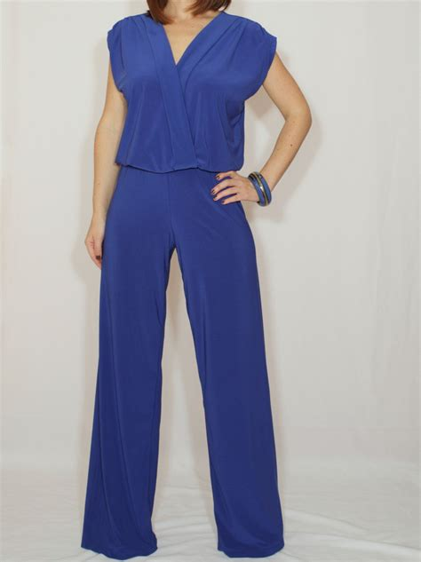 cobalt blue jumpsuit cobalt blue jumpsuit sleeveless jumpsuits wrap by