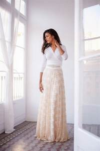 romantic long sleeve wedding dress golden lace wedding With nude lace wedding dress