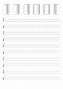 Tablatures Et Partitions De Guitare Vierges  U00e0 Imprimer