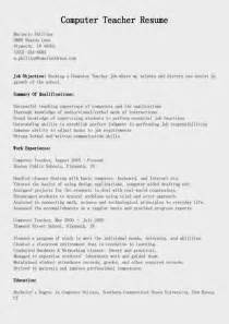 lecturer resumes computer science resume sles computer resume sle