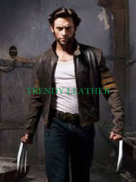 brown biker style x men wolverine biker style brown faux leather jacket