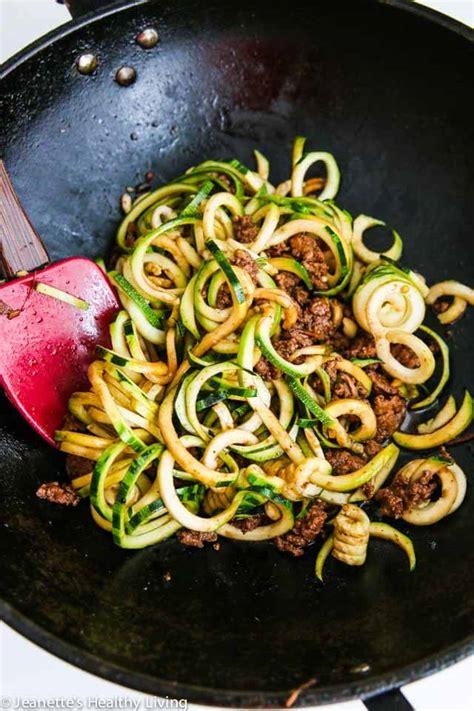 Recipe ground turkey stroganoff this was a hit at my house! Chinese Five Spice Ground Turkey Zucchini Noodles Recipe ...