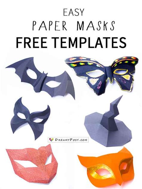easy paper masks  template  fast