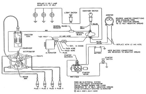 Ford Tractor Wiring by Electrical Schematic For 12 V Ford Tractor 8n