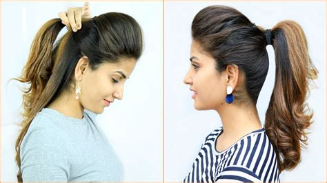 high puff ponytail hairstyles  easy ponytails