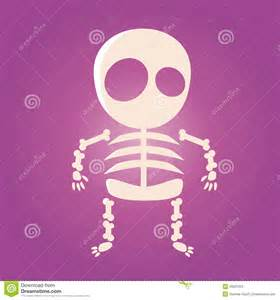 Cute Cartoon Skeleton