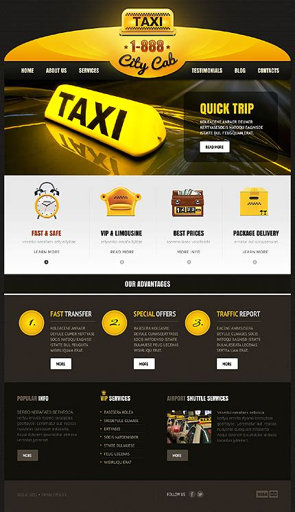 airport template free web skeuomorphism taxi theme website