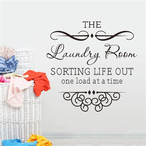laundry room rules quote wall decal  decorative vinyl