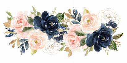 Blush Navy Watercolor Flowers Flower Floral Phone