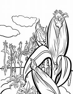 Corn Stalk Coloring Pages - AZ Coloring Pages