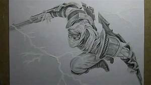 Pencil Drawing   Shockblade Zed
