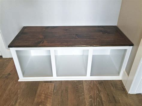diy mudroom bench part  diy storage bench kitchen