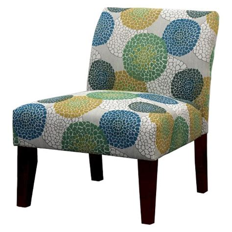 avington upholstered slipper chair blue green ye target