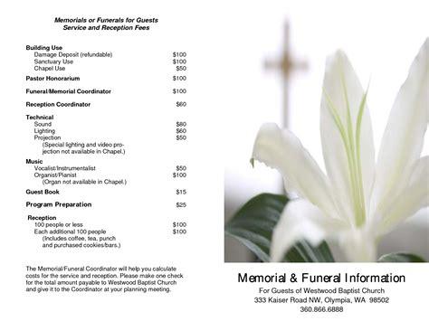 memorial service program template 7 best images of free printable memorial service program template free funeral program