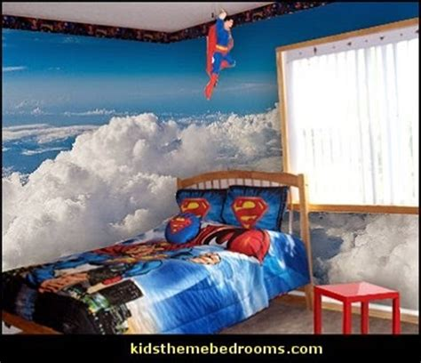 superman and batman themes for kids bedrooms interior